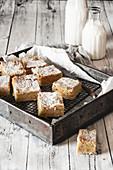 Sweet semolina squares