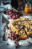 Trauben-Cheesecake