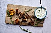 Roast lamb chops with rosemary, garlic and Tzatziki