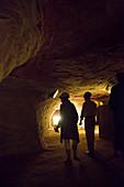 Schlossberghöhlen (coloured sandstone caves) in Schlossberg, Homburg, Saarland, Germany