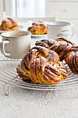 Chocolate and cinamon braided sweet bread