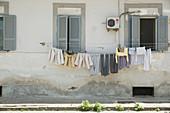 The poor quarter Rione Luzzatti, Naples, Italy