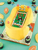 Motif cake for rugby party