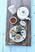 Fennel tea and dried tea herbs