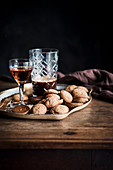 Still Life with Amaretti Cookies, Coffee and Liquor