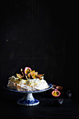 Passion Fruit Fig Pavlova