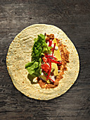 Tortilla wrap with filling