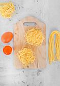 Home made pasta alluovo Nidi di rondine