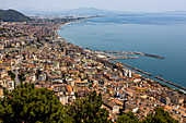 A view of Salerno and the sea, Amalfi Coast, Italy