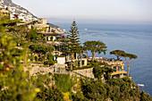 A view of the luxury hotel 'Il San Pietro di Positano', Amalfi Coast, Italy