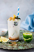 Coconut and lime shake