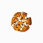Chocolatechip Cookie, zerbrochen