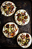 Grilled Fig and Labneh Tartines