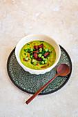 Pea Soup with Chorizo