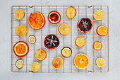 Oven dried oranges, blood oranges, lime and lemon slices