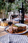 Greek lamb shank with rosemary