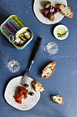 Antipasti with sardines
