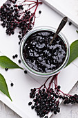 Black elderberry jam