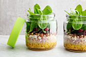 Pear and quinoa salad to take away