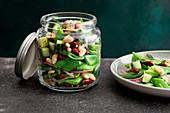 Vegan three-bean salad to take away