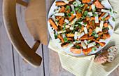 Sweet potato and asparagus salad