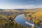 Die Mosel bei Trittenheim, Rheinland-Pfalz, Deutschland