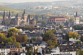 A view of Trier from the Felsenpfad Pallien, Rhineland Palatinate, Germany