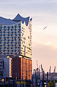 A view of the Elbphilharmonie, Hamburg, Germany