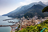 A view of Amalfi, Campania, Italy