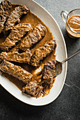 Mustard beer braised short ribs