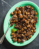 Brown sugar balsamic glazed mushrooms