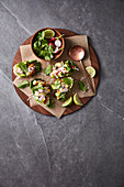 Ceviche in lettuce cups