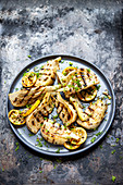Grilled fennel with lemon marinade