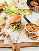 Burger with oat patties