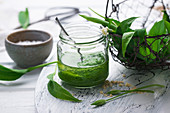 Wild garlic and almond pesto