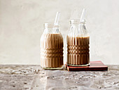 Salted caramel smoothies with dates