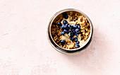 Quinoa porridge with raisins and blueberries