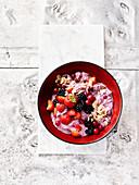 Bircher muesli with mixed berries