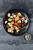 Colourful vegetable crisps with rosemary and sea salt