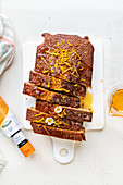 Syrup loaf cake with orange zest