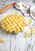 Fruit lattice pie