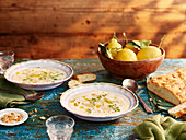 Almond lemon soup