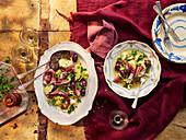 Scharfer Kartoffel-Tintenfisch-Salat