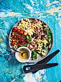 Pasta salad 'Nicoise' with tuna