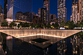 'National September 11 Memorial and Museum' on the site of the former World Trade Center, New York City, USA