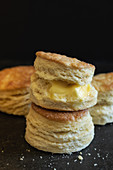 Southern biscuits with melting butter