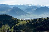 Bergpanorama von der Rigi, Luzern, Schweiz