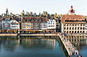 The town hall jetty, Lucerne, Switzerland