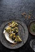 Spinach ricotta zucchini wrapped samosas