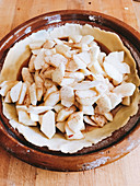 Apple pie ready to be baked